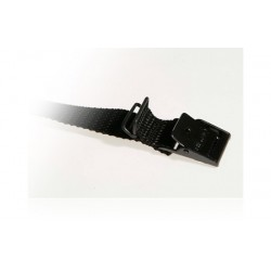 Strop - 25cm x 18mm Sort med 2 Loops