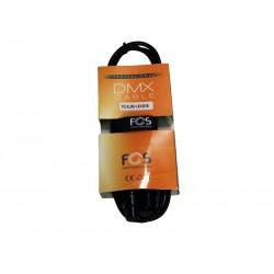 FCXLR315 DMX kabel 1,5m 110 Ohm med XLR3 pol han hun