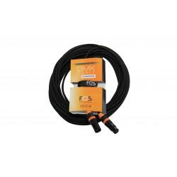 FCXLR31000 DMX kabel 10m 110 Ohm med XLR3 pol han hun