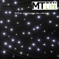 MTLite stjernetæppe 3m x 4m høj Slave Hvid 8 stk