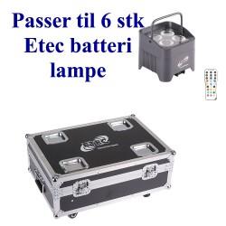 Case for 6 Etec batteri lamper